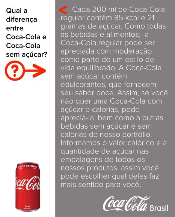42c8dac7a Cada 200 ml de Coca-Cola regular contém 85 kcal e 21 gramas de açúcar. Como  todas as bebidas e alimentos, Coca-Cola regular pode ser apreciada com  moderação ...